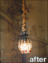 Chandelier chain covers chandelier chain cover fabric chain cover our chandelier chain cover is adjustable for smaller fixtures and ceiling fan poles aloadofball Image collections